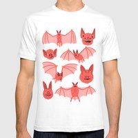 Bats Mens Fitted Tee White SMALL