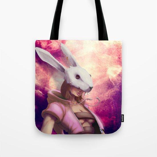White Rabbit Galaxy Tote Bag
