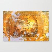 Golden Circle Canvas Print