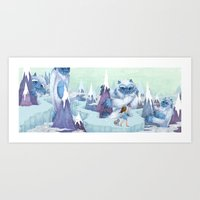 The Monstrous Mountains Art Print