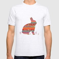 India Style Pattern (Multicolor) Mens Fitted Tee Ash Grey SMALL