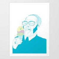ice cream Art Prints featuring ice cream by bEn HaYwArD