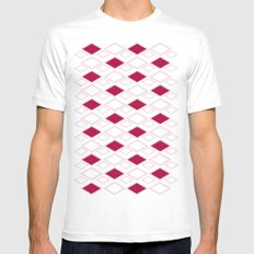 Diamonds SMALL White Mens Fitted Tee