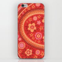 Bright Red Flowers iPhone & iPod Skin