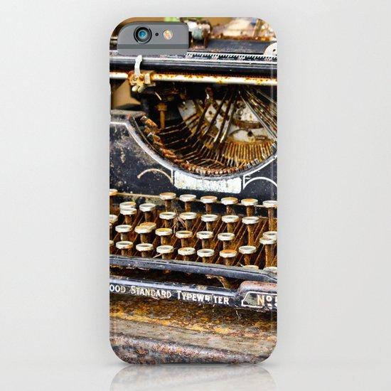 Vintage Rusty Typewriter iPhone & iPod Case