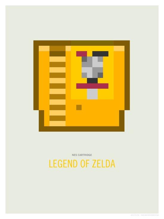 Legend of Zelda Cartridge Art Print