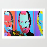 Steve Jobs Memorial In S… Art Print