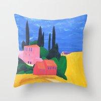 Corfu, A Homage To My Fa… Throw Pillow