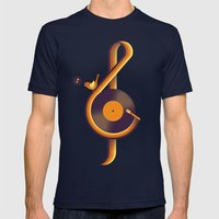 Retro Sound Mens Fitted Tee Navy SMALL