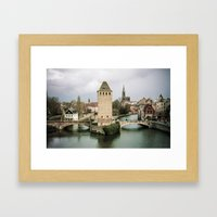 Faded Memories: Ponts Couverts, Strasbourg Framed Art Print