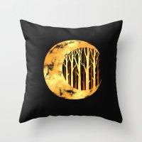 Nature moon Throw Pillow