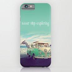 NEVER STOP EXPLORING THE BEACH Slim Case iPhone 6s