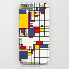 World Map Abstract Mondrian Style iPhone 6 Slim Case