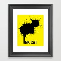 INK CAT Framed Art Print