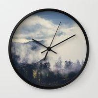 Mountain Clouds Wall Clock