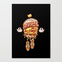 King Burger Canvas Print