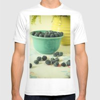 Blueberries Mens Fitted Tee White SMALL