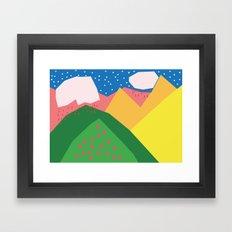 Them Rolling Hills Framed Art Print