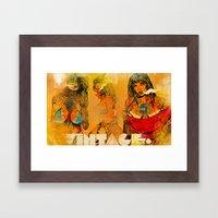 Vintage 76 ( 3 wenches) Framed Art Print