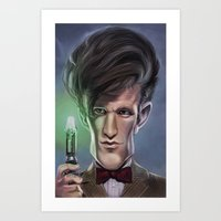 doctor Art Prints featuring Doctor by dbruce