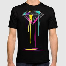 Melting Diamond Mens Fitted Tee Black SMALL
