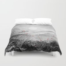 The Red Sounds And Poems… Duvet Cover
