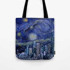 Seattle Starry Night Tote Bag