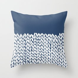 Throw Pillow - Half Knit Navy - Project M