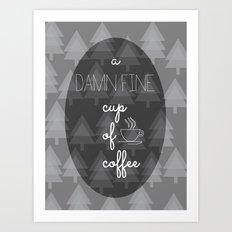 Twin Peaks Damn Fine Cup of Coffee Agent Cooper Art Print