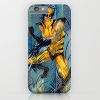 iPhone & iPod Case featuring Wolverine Japan Forest by Alex Bayliss