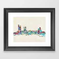 Grand Rapids Michigan skyline Framed Art Print