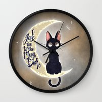 I Love You To The Moon & Back Wall Clock
