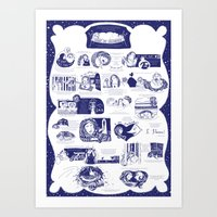 Illustrated Poster Art Print