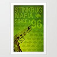 Stink Bug Mafia Art Print