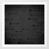 Loxley In Onyx - Arrows Art Print