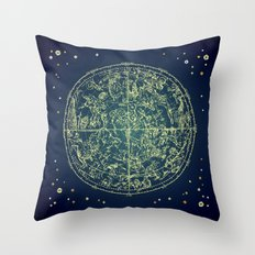 Zodiac Star Map Throw Pillow