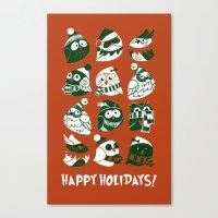 Elf Owls Canvas Print