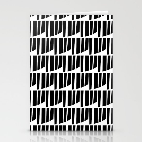 Westfranke Black & White Pattern Stationery Card