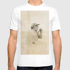 PIPE SMALL Mens Fitted Tee White