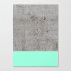 Sea on Concrete Canvas Print