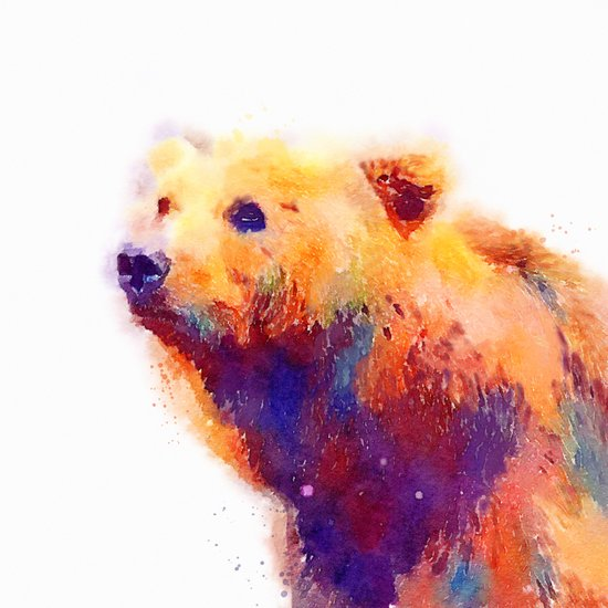 The Protective - Bear Art Print