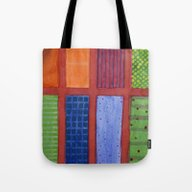 Large Rectangle Fields B… Tote Bag
