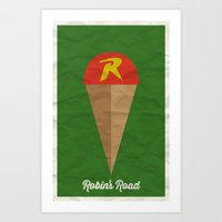 Robin's Road Art Print
