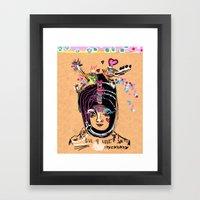 LIVE FOR LOVE Framed Art Print