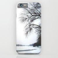 iPhone & iPod Case featuring frozen lake. by zenitt