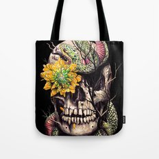 Snake and Skull Tote Bag