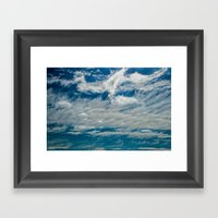 SIMPLY CLOUDS Framed Art Print