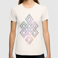 Tibetan Knot/Seed of life  Womens Fitted Tee Natural SMALL