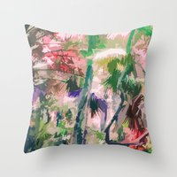 Junglism 3 Throw Pillow