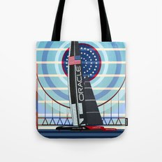 Never Give Up ! Oracle Team USA America's Cup Tote Bag